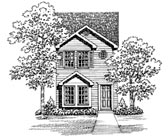 Plan Number 95264 - 1067 Square Feet