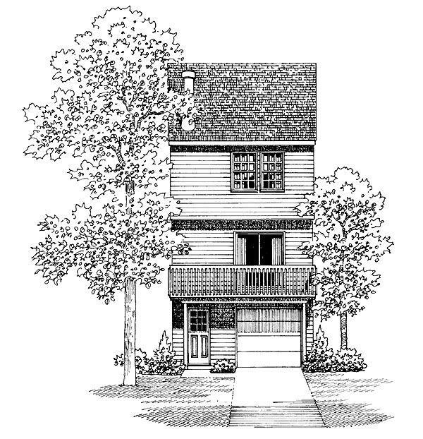 Traditional House Plan 95264 Rear Elevation