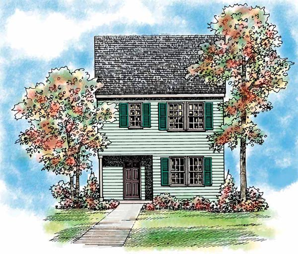 Traditional House Plan 95266 Elevation