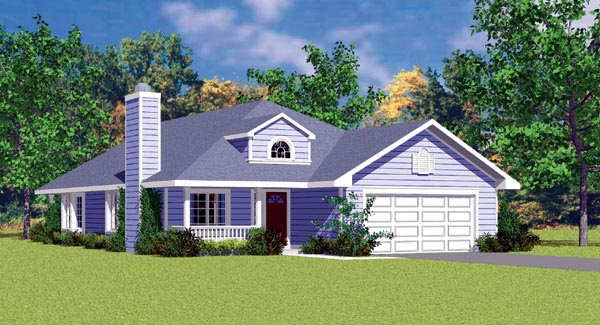Traditional House Plan 95272 with 3 Beds , 2 Baths , 2 Car Garage Elevation