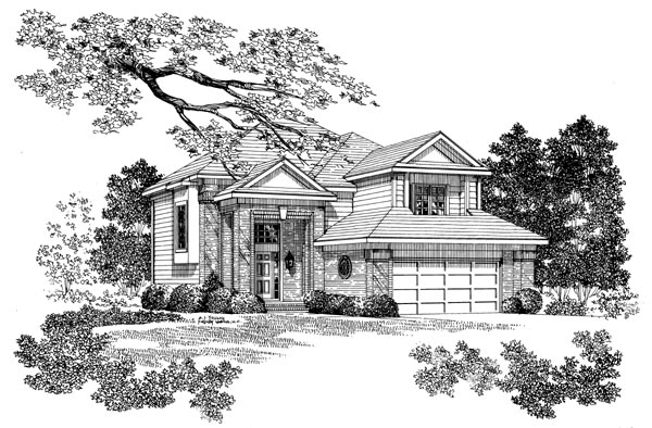 Contemporary House Plan 95276 Elevation