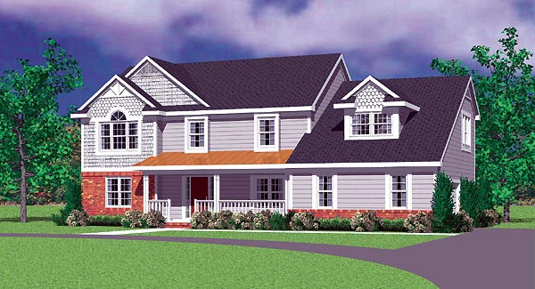 Traditional House Plan 95277 Elevation