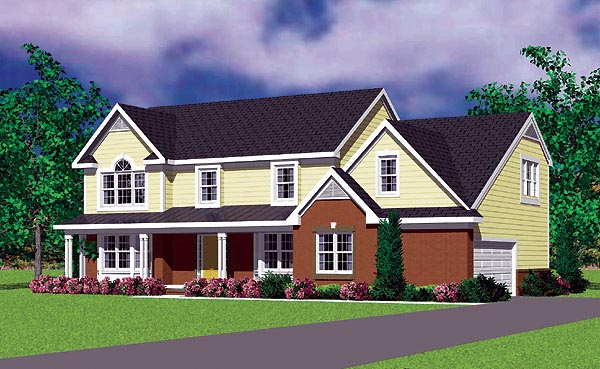 Traditional House Plan 95278 Elevation