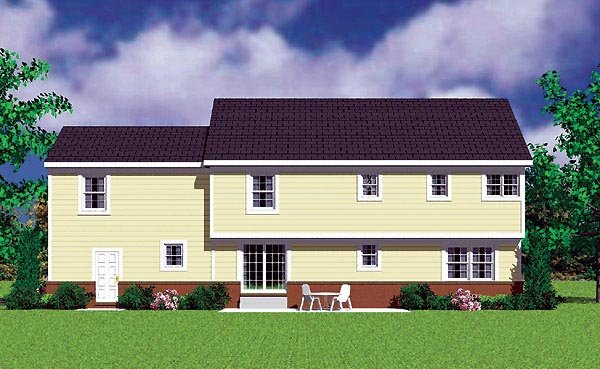 Traditional House Plan 95278 Rear Elevation