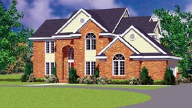 Traditional House Plan 95279 with 4 Beds, 3 Baths, 2 Car Garage Elevation