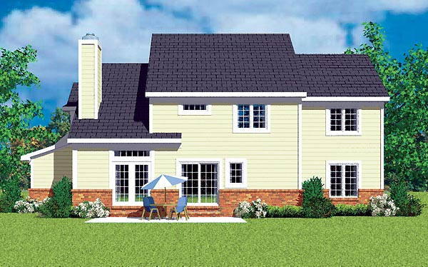 Traditional House Plan 95279 Rear Elevation