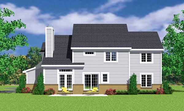 Traditional House Plan 95280 Rear Elevation