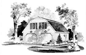 2 Car Garage Apartment Plan 95281 Elevation