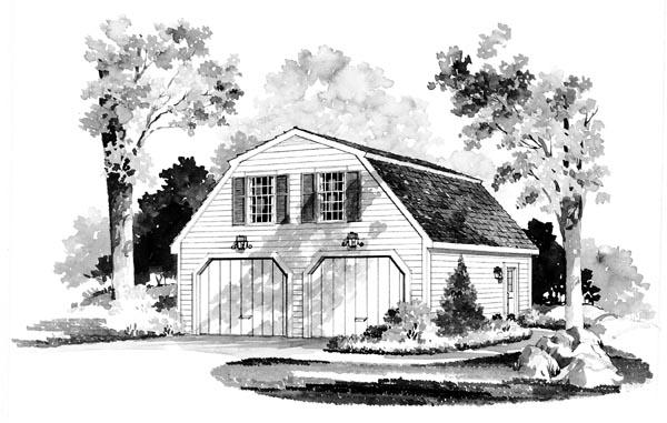 Garage Plan 95281 Elevation
