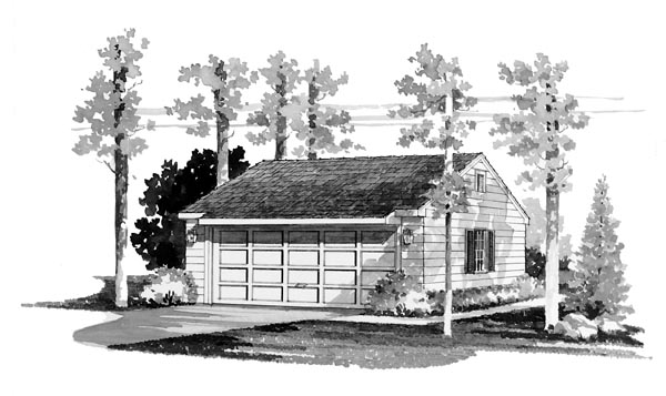 Garage Plan 95282 Elevation