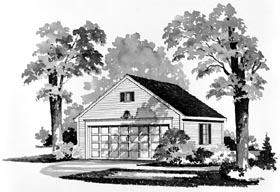2 Car Garage Plan 95283 Elevation