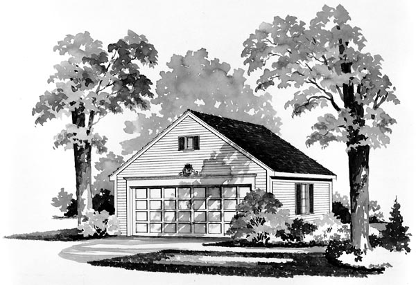Garage Plan 95283 Elevation
