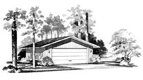 Garage Plan 95286 | Style Plan, 2 Car Garage Elevation