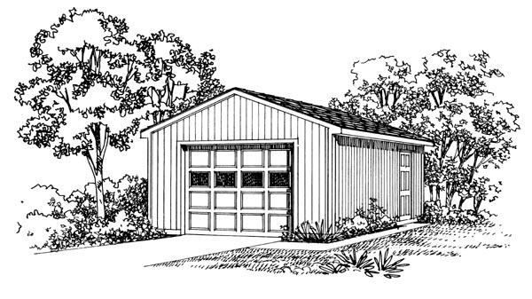 Garage Plan 95289 Elevation