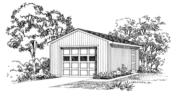 Garage Plan 95290 Elevation