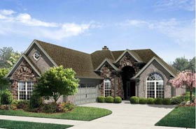 Traditional House Plan 95311 with 2 Beds, 2 Baths, 2 Car Garage Elevation