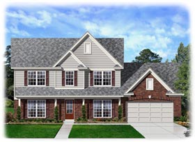 Traditional House Plan 95330 with 4 Beds, 3 Baths, 2 Car Garage Elevation