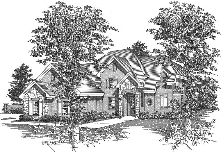 Traditional House Plan 95335 with 4 Beds, 3 Baths, 3 Car Garage Picture 1