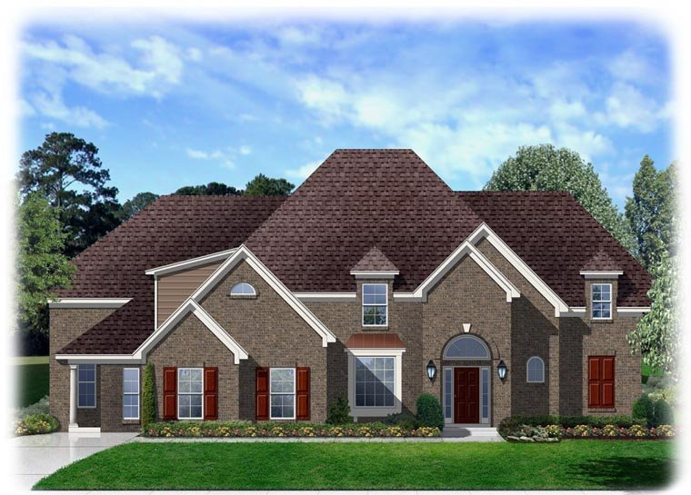 Traditional House Plan 95336 with 4 Beds, 3 Baths, 3 Car Garage Elevation