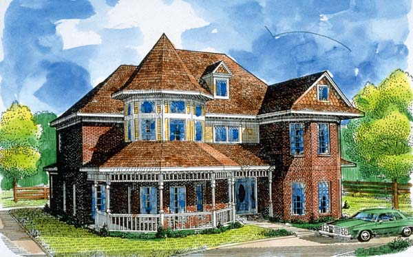 Country Victorian House Plan 95500 Elevation