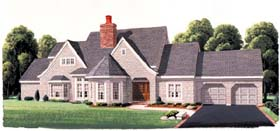 House Plan 95502 | European Style Plan with 3260 Sq Ft, 4 Bedrooms, 4 Bathrooms, 2 Car Garage Elevation