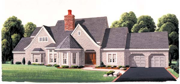 European House Plan 95502 Elevation