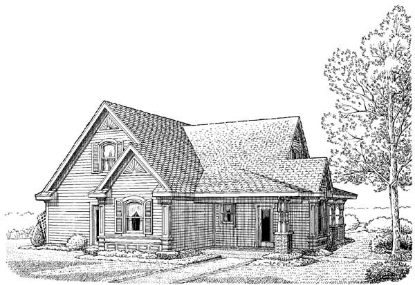 Country House Plan 95505 Rear Elevation