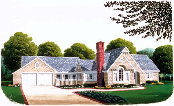 Country Craftsman House Plan 95506 Elevation