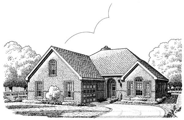 European House Plan 95507 Elevation