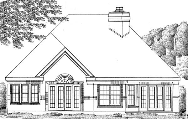 European House Plan 95507 Rear Elevation