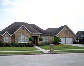 European House Plan 95508 with 3 Beds, 2 Baths, 2 Car Garage Elevation