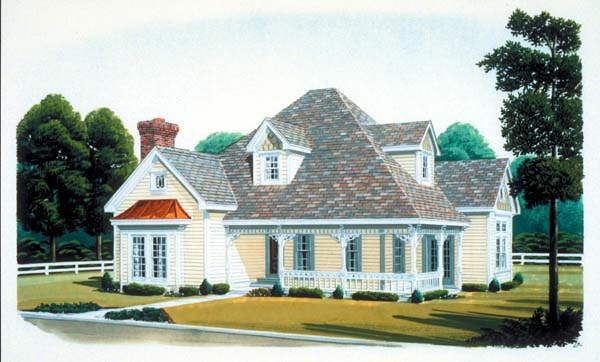 Country Farmhouse Victorian House Plan 95509 Elevation