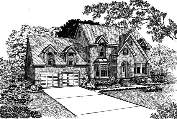European House Plan 95510 Elevation