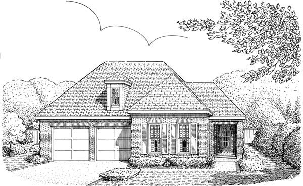 Country European House Plan 95511 Elevation