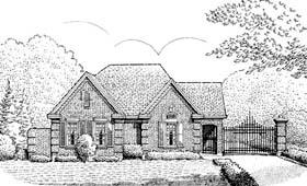 European House Plan 95513 Elevation
