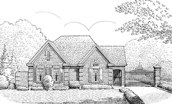 European House Plan 95513 Elevation