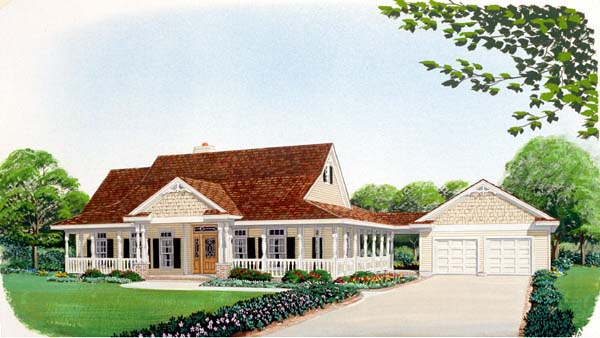 Country Farmhouse House Plan 95514 Elevation