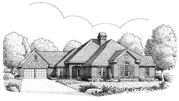 European House Plan 95516 Elevation