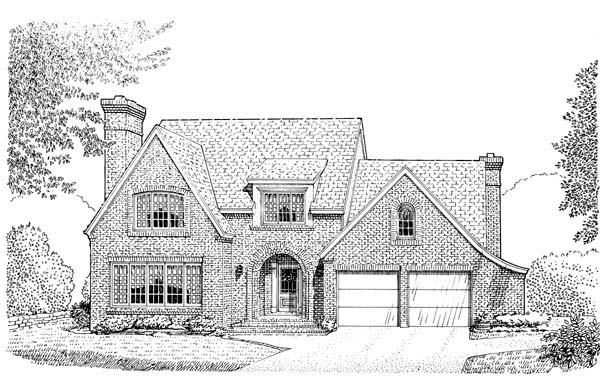 European House Plan 95518 Elevation