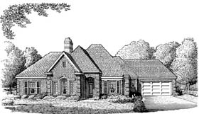 European House Plan 95520 Elevation
