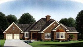European House Plan 95522 Elevation