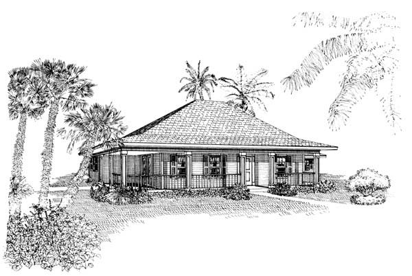 Country Southern House Plan 95524 Elevation
