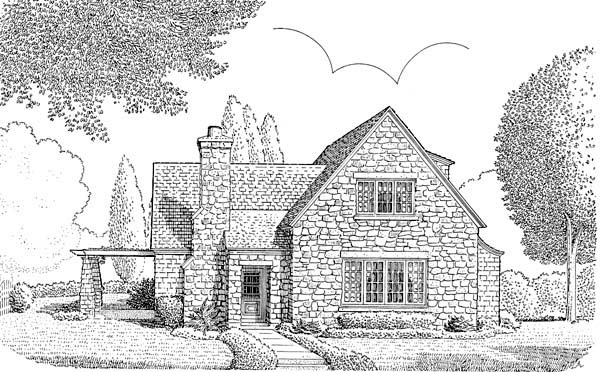 European House Plan 95525 with 3 Beds, 3 Baths, 2 Car Garage Elevation