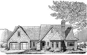 Cottage Craftsman House Plan 95526 Elevation