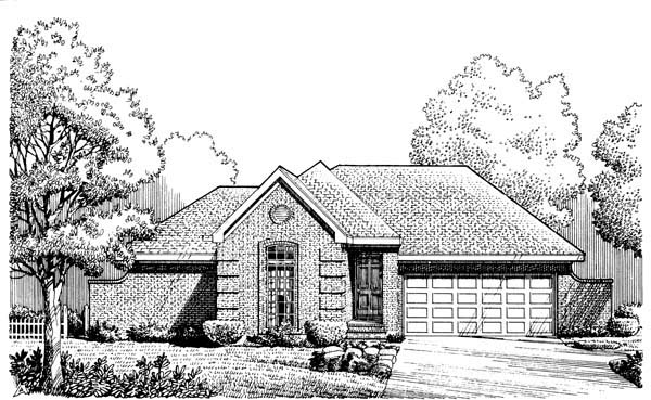 European House Plan 95530 Elevation