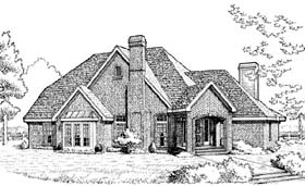 European House Plan 95534 Elevation