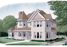 Country Farmhouse Victorian House Plan 95535 Elevation