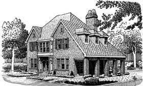 Country European House Plan 95536 Elevation