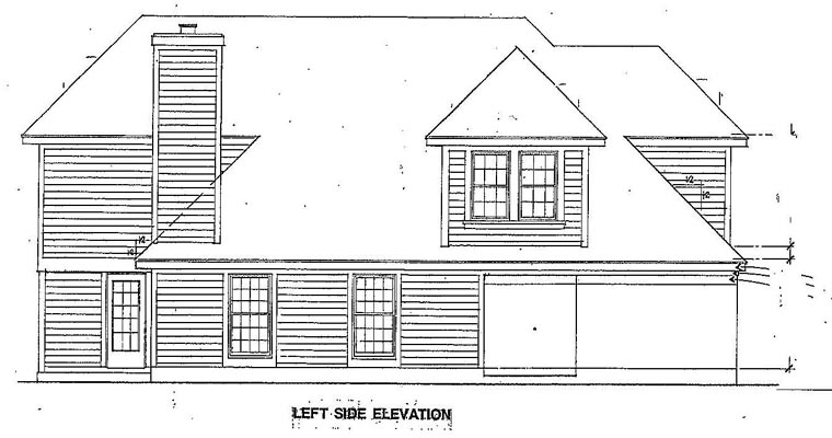 Narrow Lot House Plan 95537 with 3 Beds, 3 Baths, 2 Car Garage Picture 1