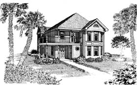 Cottage Country House Plan 95538 Elevation
